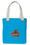 UVA Peace Frog Tote Bag RICH COTTON CANVAS Turquoise