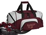 SMALL Virginia Tech Hokies Gym Bag Virginia Tech Duffle Maroon