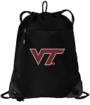 Virginia Tech Drawstring Backpack-MESH & MICROFIBER