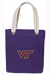 Virginia Tech Tote Bag RICH COTTON CANVAS Purple