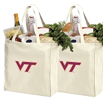 Virginia Tech Hokies Shopping Bags Virginia Tech Grocery Bags 2 PC SET