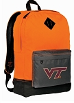 Virginia Tech Backpack Classic Style Cool Orange
