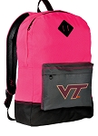 Virginia Tech Backpack Classic Style HOT PINK