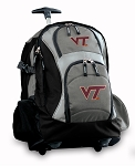 Virginia Tech Rolling Backpack Black Gray