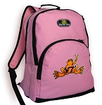 Virginia Tech Peace Frog Pink Backpack