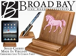 Cute Horse Ipad Stand Solid Cherry Wood