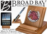 Horse Theme Ipad Stand Solid Cherry Wood