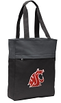 Washington State Tote Bag Everyday Carryall Black