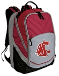 Washington State Deluxe Laptop Backpack Red