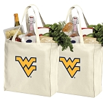 West Virginia Cotton Shopping Grocery Bags 2 PC SET