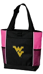 WVU Neon Pink Tote Bag