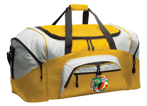 World Flag Soccer Duffle Bag Yellow