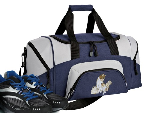 Cute Cats Small Duffle Bag Navy