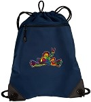 Peace Frogs Drawstring Bag Backpack