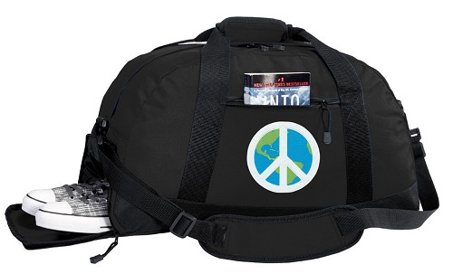 Peace Sign Duffel Bag with Shoe Pocket