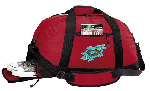 Christian Duffel Bag with Shoe Pocket Red