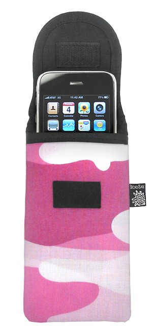 Pink Camo Phone Glasses Case