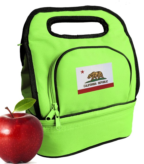 California Flag Lunch Bag Black