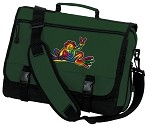 Peace Frogs Messenger Bag Green