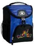 Peace Frogs Lunch Bag Insulated Lunch Cooler Blue
