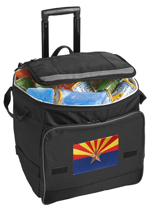 Arizona Flag Rolling Cooler Bag