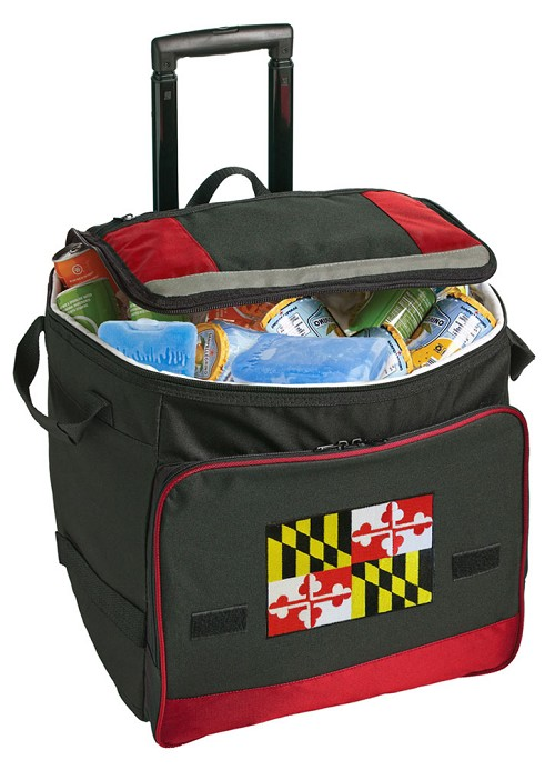 Maryland Rolling Cooler Bag Red