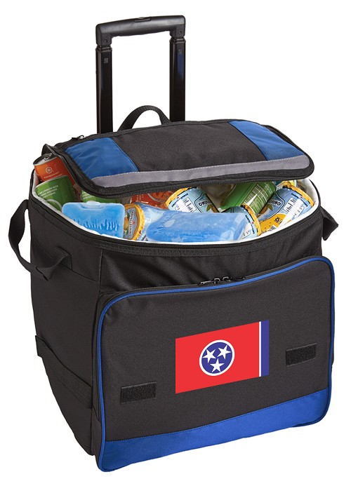 Rolling Tennessee Cooler Bag Blue