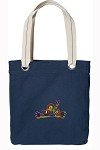 Peace Frogs Navy Cotton Tote Bag
