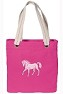 Pink Horse NEON PINK Cotton Tote Bag