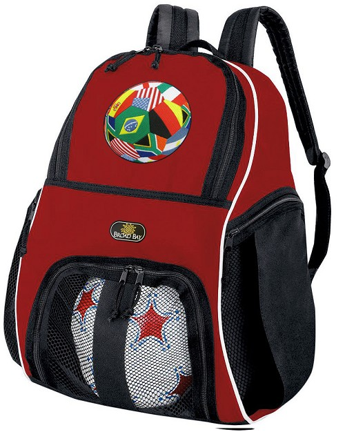 World Cup Fan Soccer Backpack or Soccer Volleyball Practice Bag Red Boys or Girls