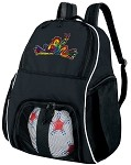 Peace Frogs Ball Backpack