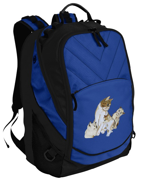 Cute Cats Deluxe Computer Backpack Blue