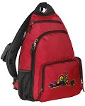 Peace Frogs Sling Backpack Red