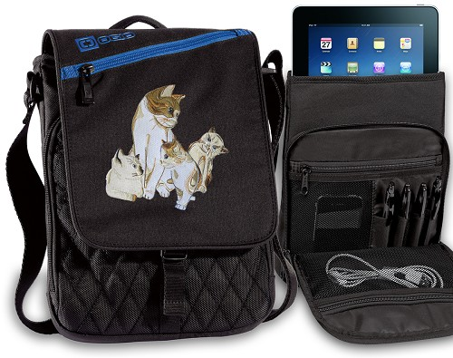 Cute Cats Tablet Bags & Cases Blue