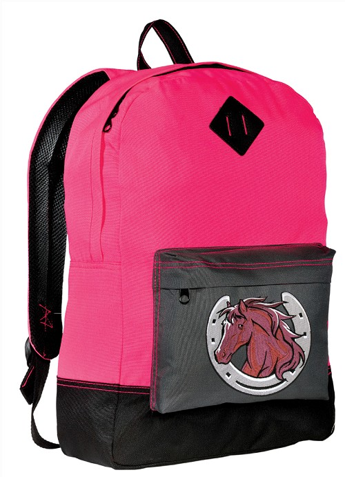 Horses Backpack HI VISIBILITY Pink CLASSIC STYLE