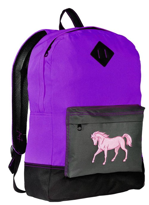 Horse Backpack CLASSIC STYLE Purple