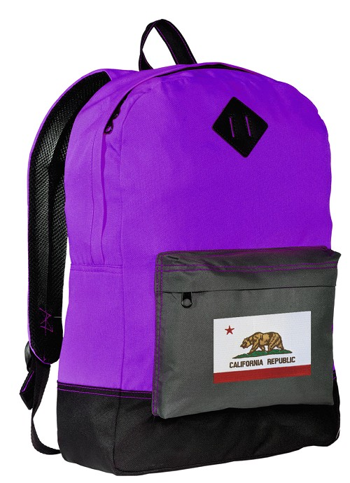 California Backpack CLASSIC STYLE Purple