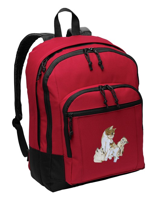 Cute Cats Backpack CLASSIC STYLE Red