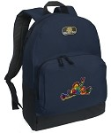 Peace Frogs Backpack Navy Blue