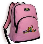 Peace Frogs Backpack Pink
