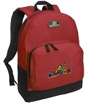 Peace Frogs Backpack Red
