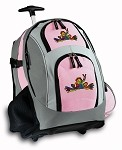 Peace Frogs Rolling Backpack Deluxe Pink