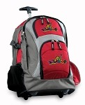Peace Frogs Rolling Backpack Deluxe Red