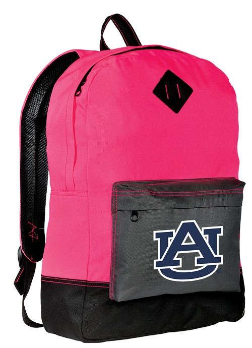 Auburn Tigers Backpack HI VISIBILITY Auburn University CLASSIC STYLE For Her Girls Women