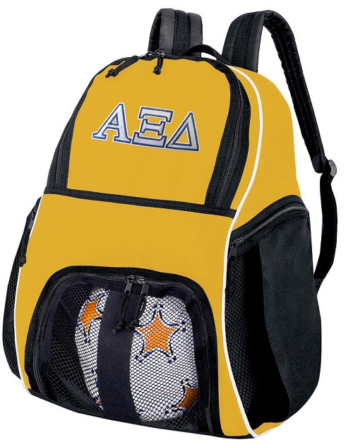 Alpha Xi Delta Soccer Ball Backpack or AZD Sorority Volleyball For Girls or Boys Practice