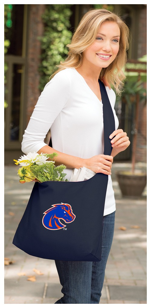 Boise State Tote Bag Sling Style Navy