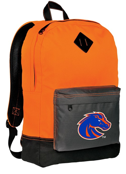 Boise State Neon Orange Backpack