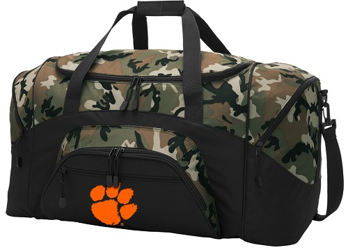 Official Clemson University Camo Duffel Bags