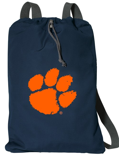 Clemson Cotton Drawstring Bag Backpacks Cool Navy