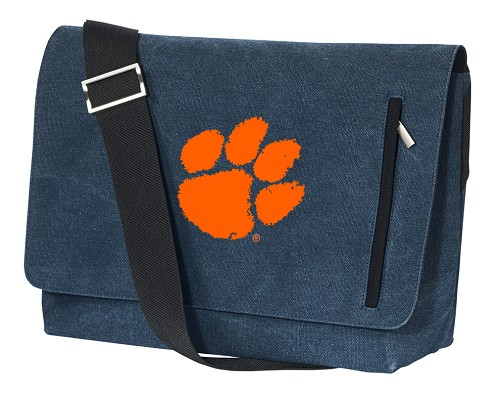Clemson Messenger Bags STYLISH WASHED COTTON CANVAS Blue